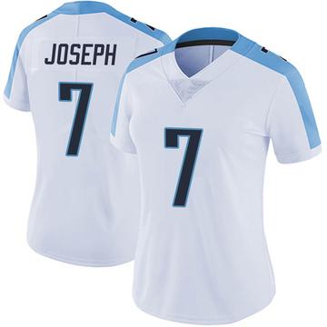 Women's Nike Tennessee Titans Greg Joseph White Vapor Untouchable Jersey - Limited
