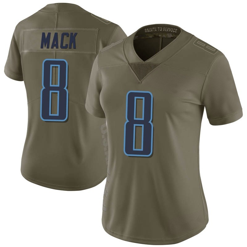 hot sale online 1112f b080f Women's Nike Tennessee Titans Isaiah Mack Green 2017 Salute to Service  Jersey - Limited