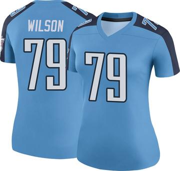 Women's Nike Tennessee Titans Isaiah Wilson Light Blue Color Rush Jersey - Legend