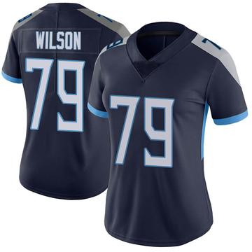 Women's Nike Tennessee Titans Isaiah Wilson Navy Vapor Untouchable Jersey - Limited