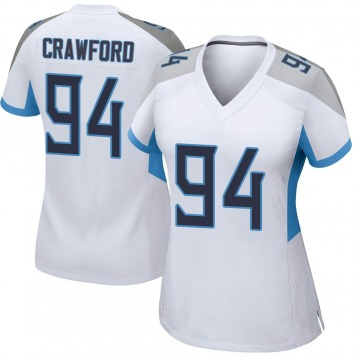 Women's Nike Tennessee Titans Jack Crawford White Jersey - Game