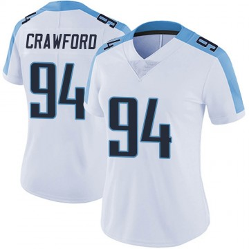 Women's Nike Tennessee Titans Jack Crawford White Vapor Untouchable Jersey - Limited