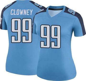 Women's Nike Tennessee Titans Jadeveon Clowney Light Blue Color Rush Jersey - Legend