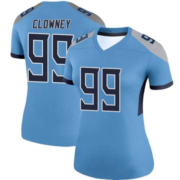 Women's Nike Tennessee Titans Jadeveon Clowney Light Blue Jersey - Legend