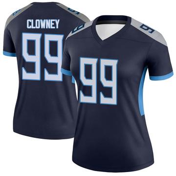 Women's Nike Tennessee Titans Jadeveon Clowney Navy Jersey - Legend