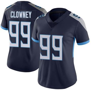 Women's Nike Tennessee Titans Jadeveon Clowney Navy Vapor Untouchable Jersey - Limited