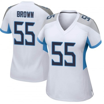 Women's Nike Tennessee Titans Jayon Brown White Jersey - Game
