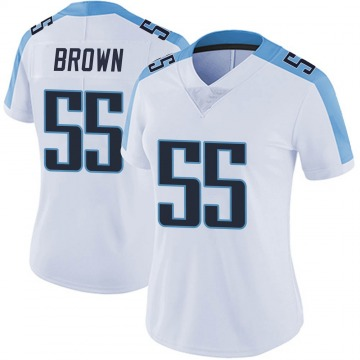 Women's Nike Tennessee Titans Jayon Brown White Vapor Untouchable Jersey - Limited