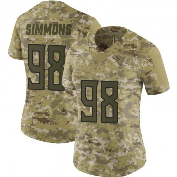 Women's Nike Tennessee Titans Jeffery Simmons Camo 2018 Salute to Service Jersey - Limited