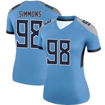 Women's Nike Tennessee Titans Jeffery Simmons Light Blue Jersey - Legend