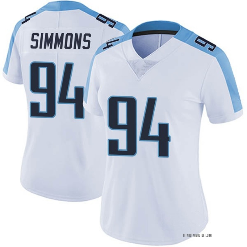 san francisco bc770 3506d Women's Nike Tennessee Titans Jeffery Simmons White Vapor Untouchable  Jersey - Limited