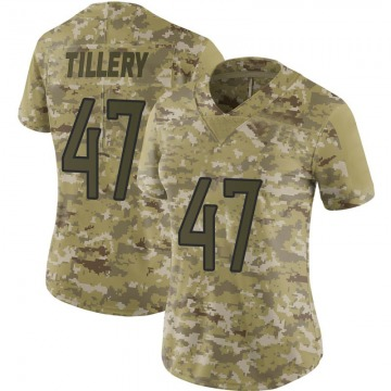 Women's Nike Tennessee Titans JoJo Tillery Camo 2018 Salute to Service Jersey - Limited