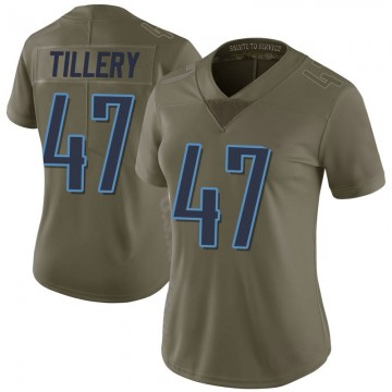 Women's Nike Tennessee Titans JoJo Tillery Green 2017 Salute to Service Jersey - Limited