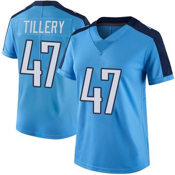 Women's Nike Tennessee Titans JoJo Tillery Light Blue Color Rush Jersey - Limited