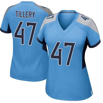 Women's Nike Tennessee Titans JoJo Tillery Light Blue Jersey - Game