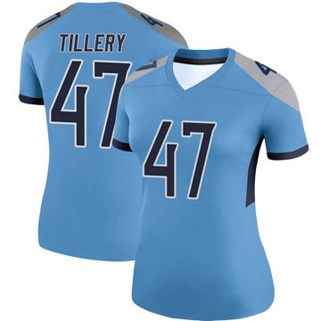 Women's Nike Tennessee Titans JoJo Tillery Light Blue Jersey - Legend