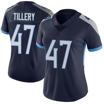 Women's Nike Tennessee Titans JoJo Tillery Navy Vapor Untouchable Jersey - Limited