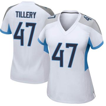 Women's Nike Tennessee Titans JoJo Tillery White Jersey - Game