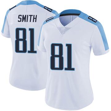 Women's Nike Tennessee Titans Jonnu Smith White Vapor Untouchable Jersey - Limited