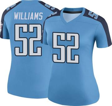 Women's Nike Tennessee Titans Jordan Williams Light Blue Color Rush Jersey - Legend