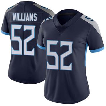 Women's Nike Tennessee Titans Jordan Williams Navy Vapor Untouchable Jersey - Limited