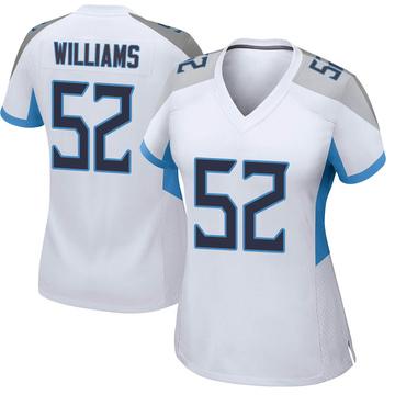 Women's Nike Tennessee Titans Jordan Williams White Jersey - Game