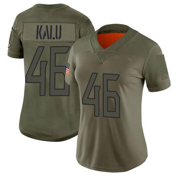 Women's Nike Tennessee Titans Joshua Kalu Camo 2019 Salute to Service Jersey - Limited