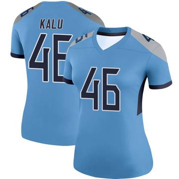 Women's Nike Tennessee Titans Joshua Kalu Light Blue Jersey - Legend