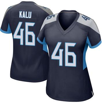 Women's Nike Tennessee Titans Joshua Kalu Navy Jersey - Game