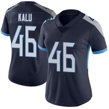 Women's Nike Tennessee Titans Joshua Kalu Navy Vapor Untouchable Jersey - Limited