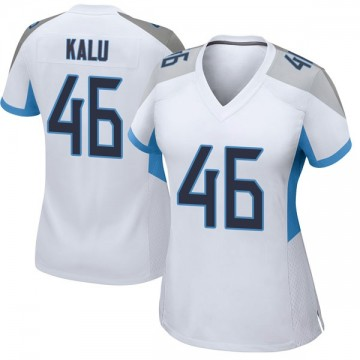 Women's Nike Tennessee Titans Joshua Kalu White Jersey - Game