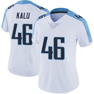 Women's Nike Tennessee Titans Joshua Kalu White Vapor Untouchable Jersey - Limited