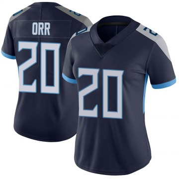 Women's Nike Tennessee Titans Kareem Orr Navy Vapor Untouchable Jersey - Limited