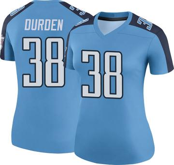 Women's Nike Tennessee Titans Kenneth Durden Light Blue Color Rush Jersey - Legend