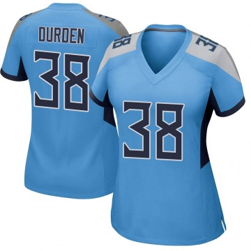 Women's Nike Tennessee Titans Kenneth Durden Light Blue Jersey - Game