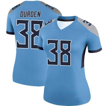 Women's Nike Tennessee Titans Kenneth Durden Light Blue Jersey - Legend