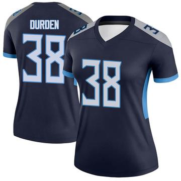 Women's Nike Tennessee Titans Kenneth Durden Navy Jersey - Legend