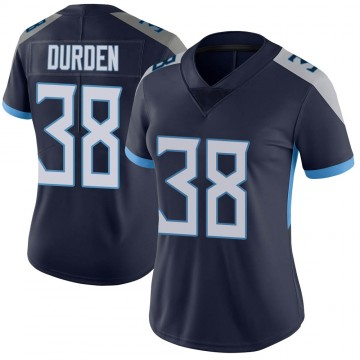 Women's Nike Tennessee Titans Kenneth Durden Navy Vapor Untouchable Jersey - Limited