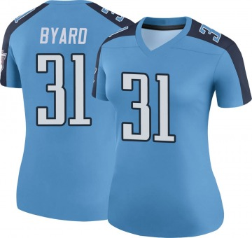 Women's Nike Tennessee Titans Kevin Byard Light Blue Color Rush Jersey - Legend