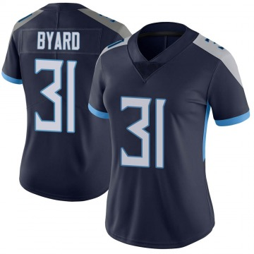 Women's Nike Tennessee Titans Kevin Byard Navy Vapor Untouchable Jersey - Limited