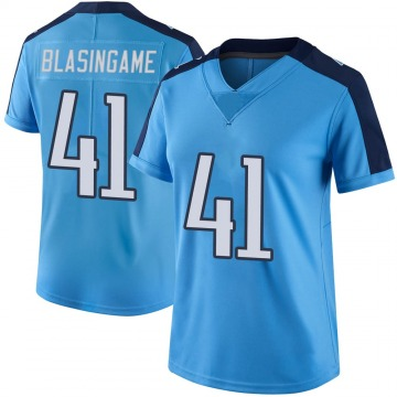 Women's Nike Tennessee Titans Khari Blasingame Light Blue Color Rush Jersey - Limited
