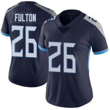 Women's Nike Tennessee Titans Kristian Fulton Navy Vapor Untouchable Jersey - Limited