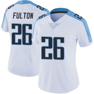Women's Nike Tennessee Titans Kristian Fulton White Vapor Untouchable Jersey - Limited