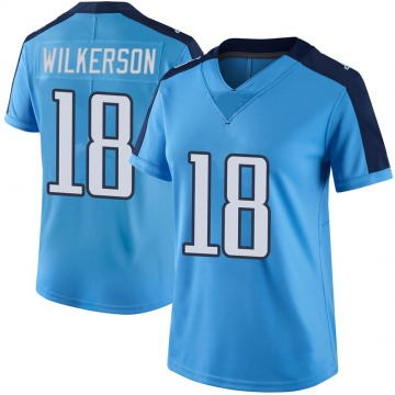 Women's Nike Tennessee Titans Kristian Wilkerson Light Blue Color Rush Jersey - Limited