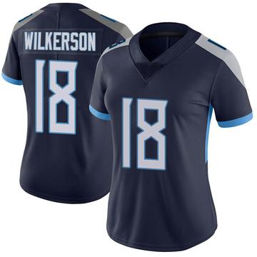 Women's Nike Tennessee Titans Kristian Wilkerson Navy Vapor Untouchable Jersey - Limited