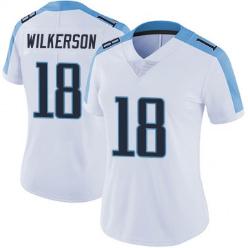 Women's Nike Tennessee Titans Kristian Wilkerson White Vapor Untouchable Jersey - Limited