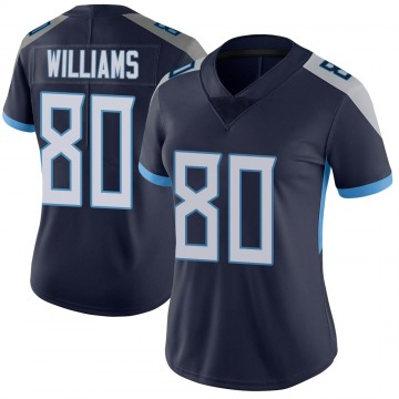 Women's Nike Tennessee Titans Kyle Williams Navy Vapor Untouchable Jersey - Limited