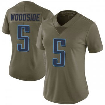 Women's Nike Tennessee Titans Logan Woodside Green 2017 Salute to Service Jersey - Limited