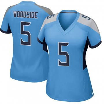 Women's Nike Tennessee Titans Logan Woodside Light Blue Jersey - Game