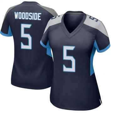 Women's Nike Tennessee Titans Logan Woodside Navy Jersey - Game